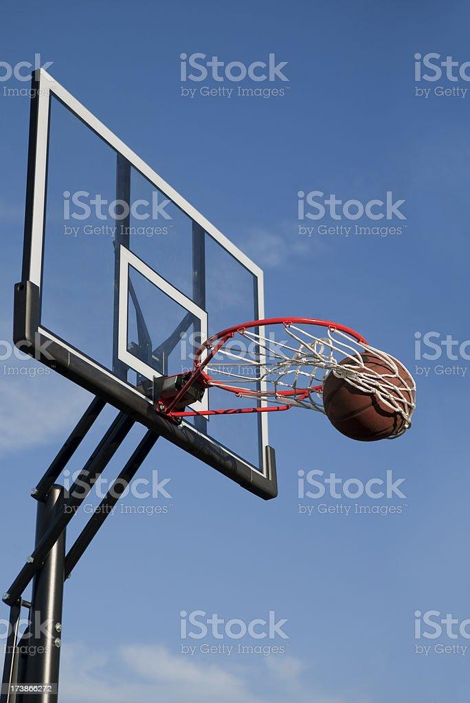 Swishing basketball royalty-free stock photo