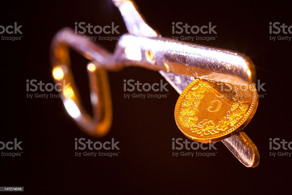 Swiss 5-coin stock photo