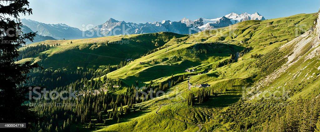 Swiss Alp Scene stock photo
