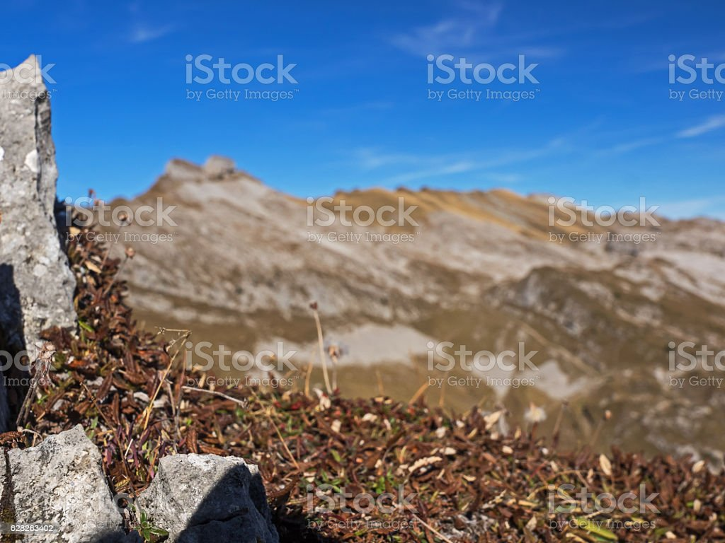 Swiss alpine landscape in autumn stock photo