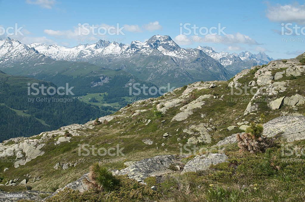 swiss alpine landscape royalty-free stock photo