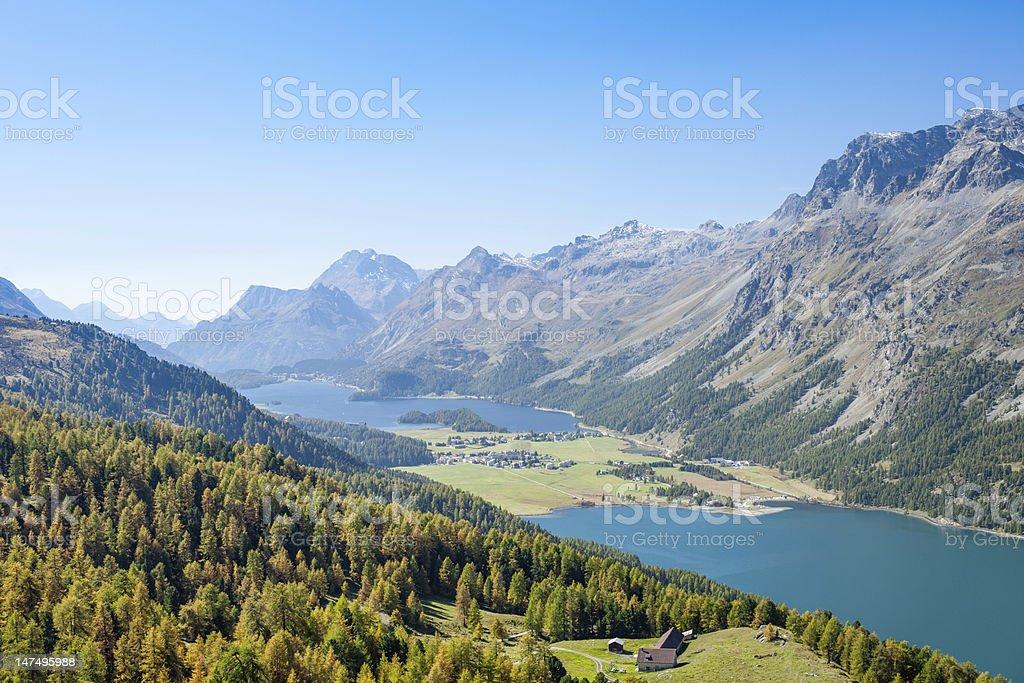 Swiss Alpine Panorama stock photo