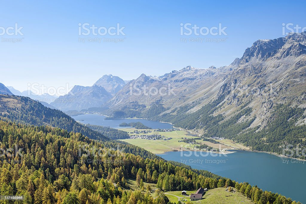 Swiss Alpine Panorama stock photo
