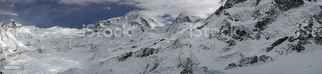 Swiss alpine panorama royalty-free stock photo