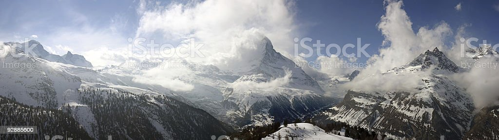 Swiss alpine panorama royalty-free stock photo