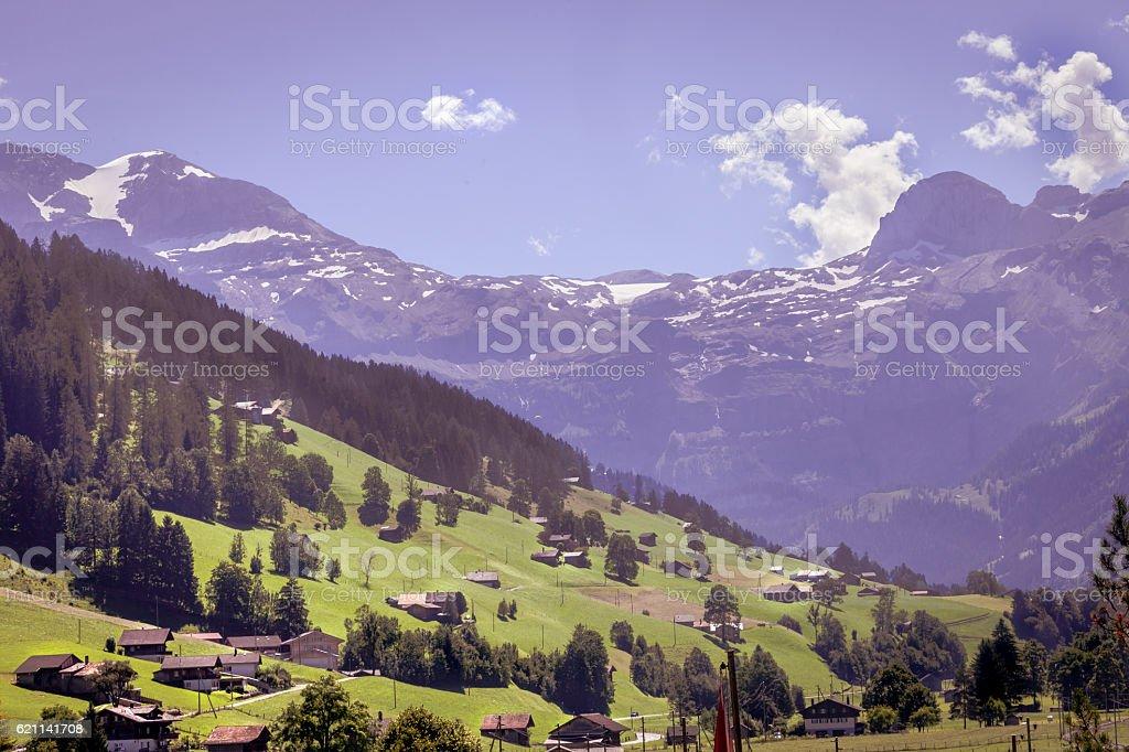 Swiss Alpine Scene, Obersimmental stock photo