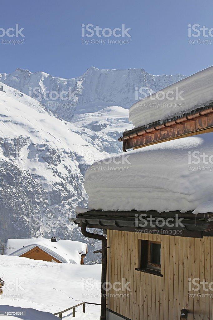 Swiss Alpine town of Murren, Berne Canton, Switzerland royalty-free stock photo