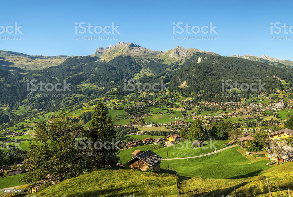 Swiss Alpine Village of Grindelwald royalty-free stock photo