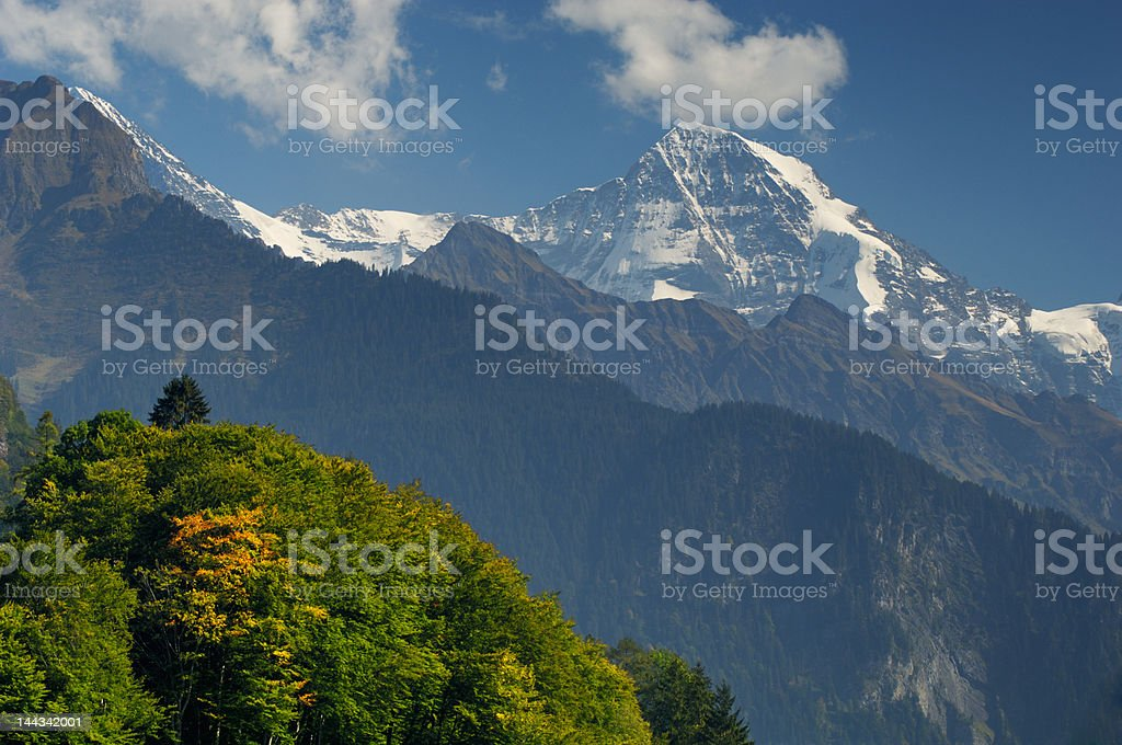 Swiss Alps close to Interlaken royalty-free stock photo