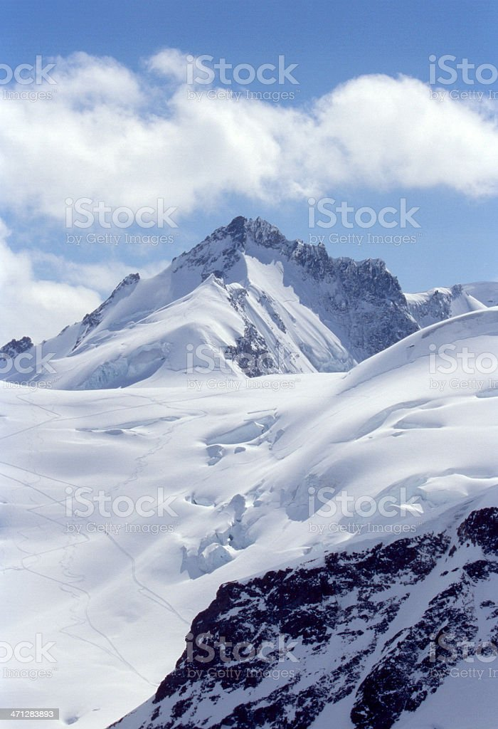 Swiss Alps Jungfraujoch stock photo