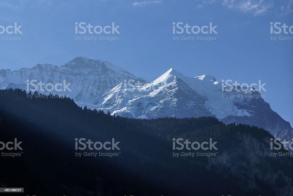 Swiss Alps landscape near Interlaken in Europe. stock photo