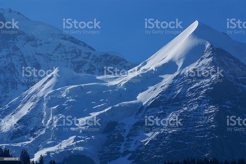 Swiss Alps landscape near Interlaken in Europe. royalty-free stock photo