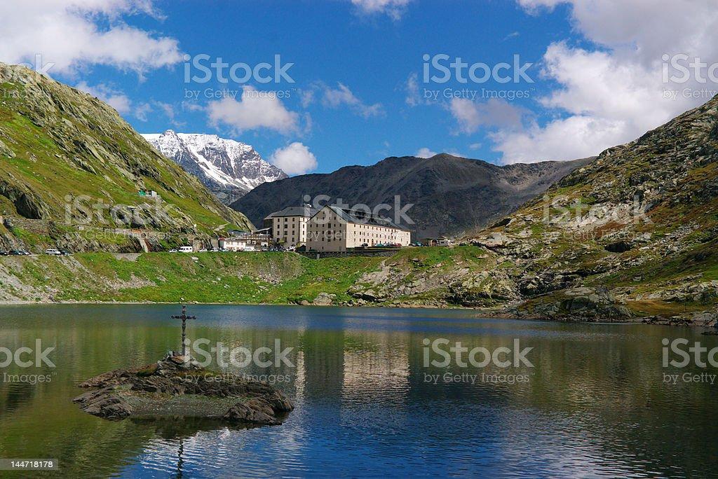 swiss alps mountain landscape royalty-free stock photo