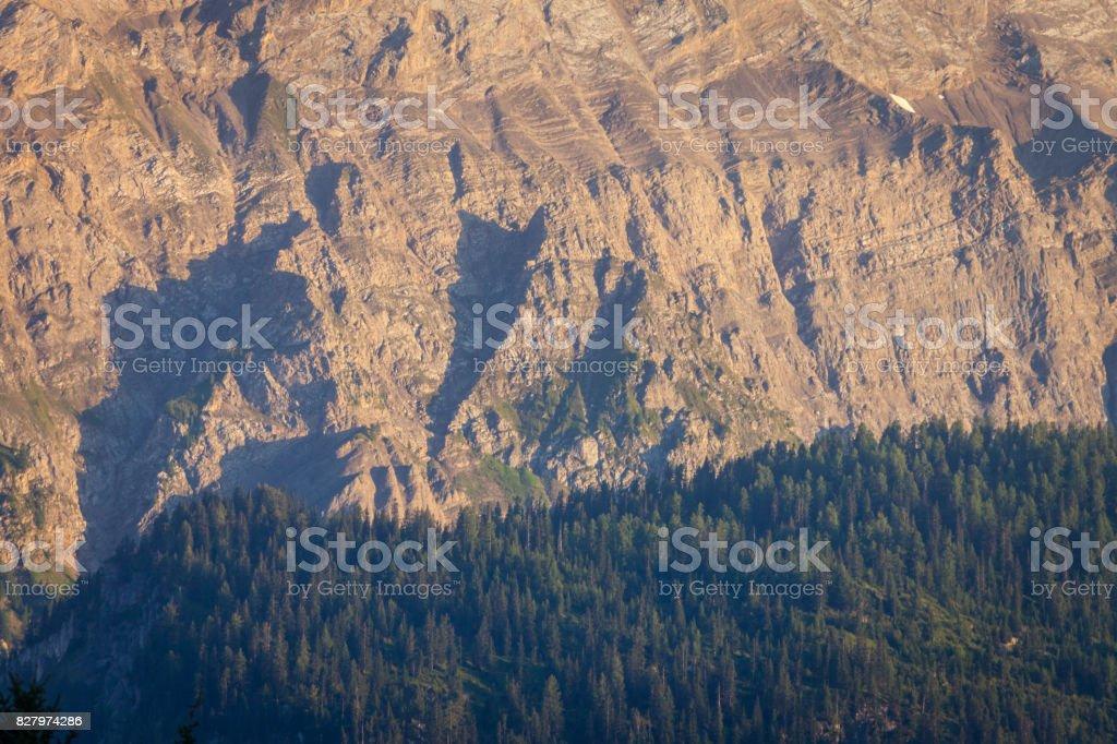 Swiss Alps Mountain Side stock photo