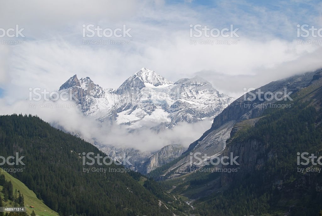 Swiss Alps near Kandersteg stock photo