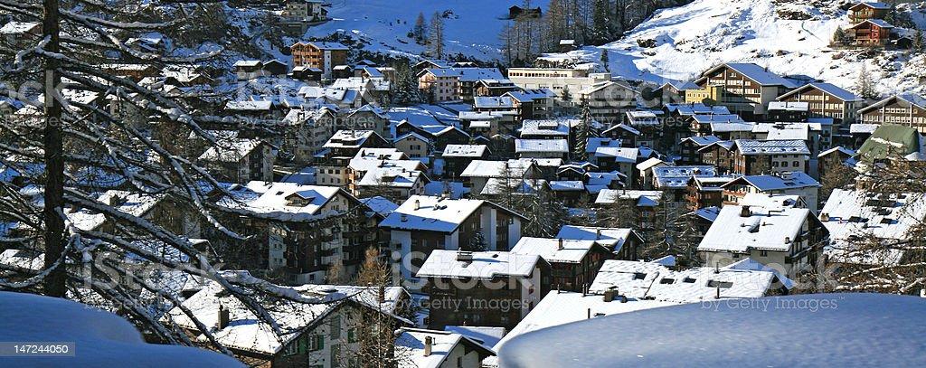 Swiss Alps Panorama royalty-free stock photo