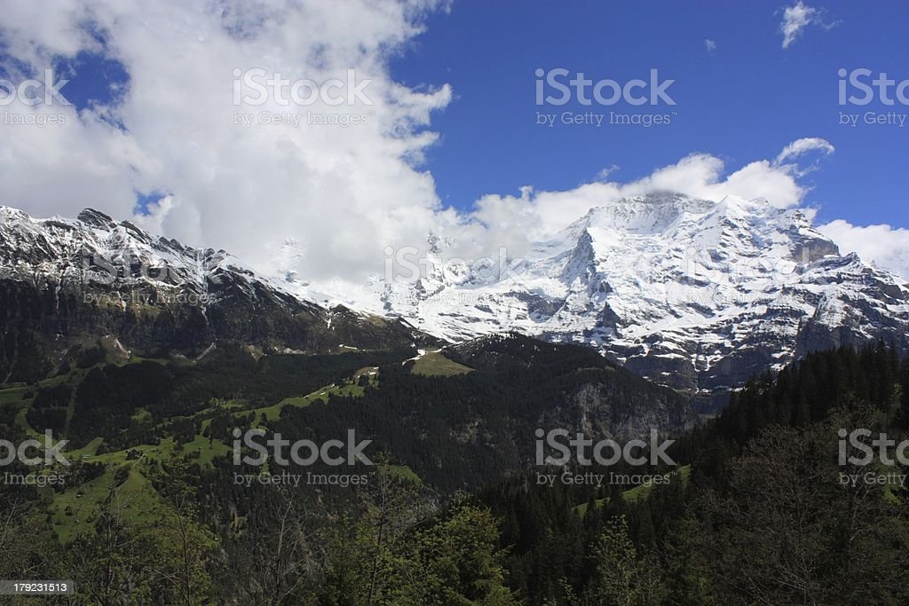 Swiss Alps royalty-free stock photo