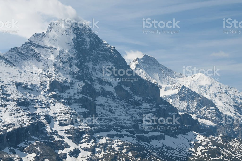 Swiss Alps: the Eiger stock photo