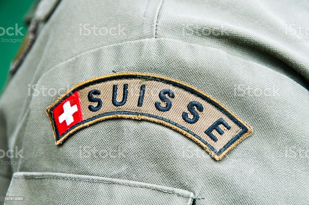 Swiss Army stock photo