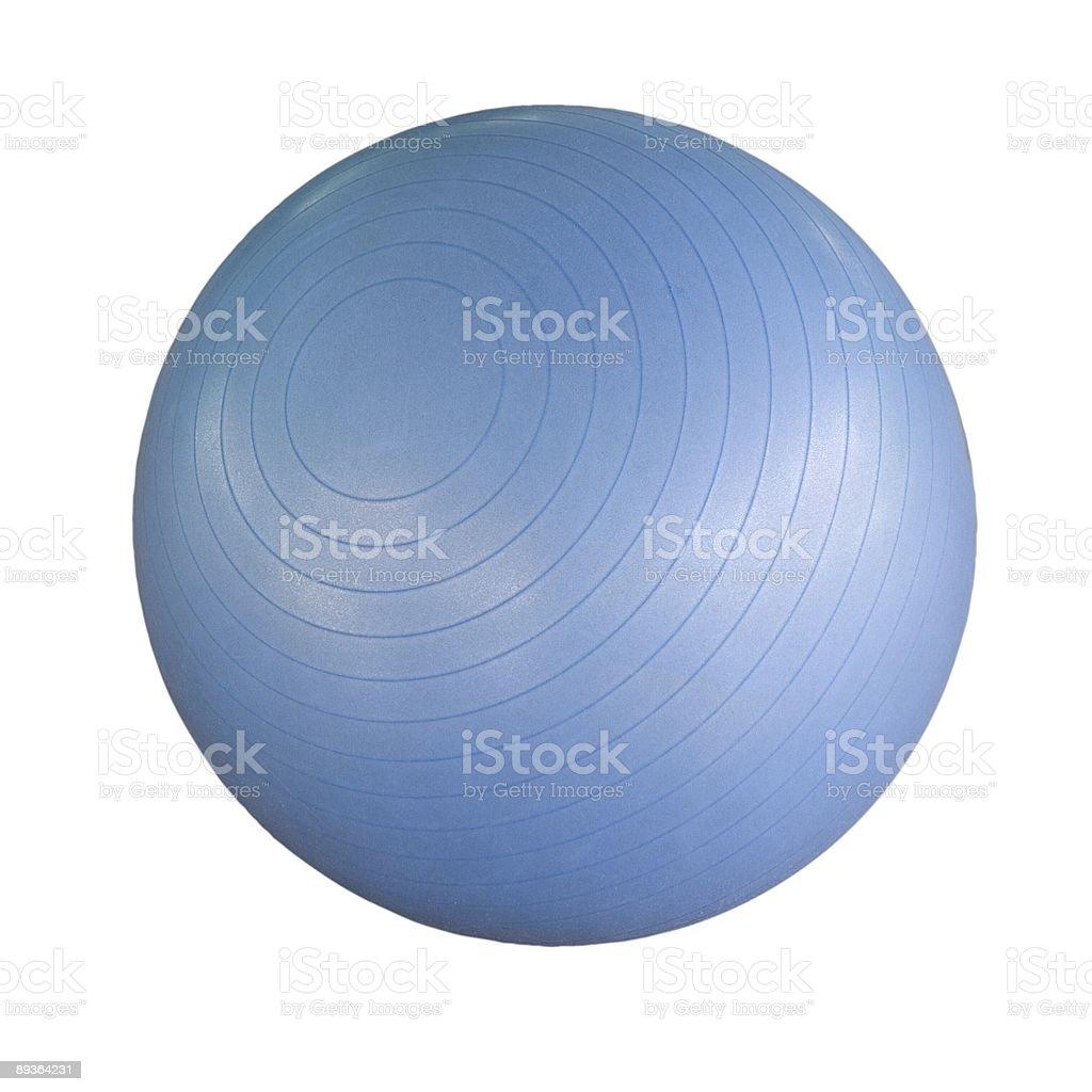 Swiss ball isolated stock photo