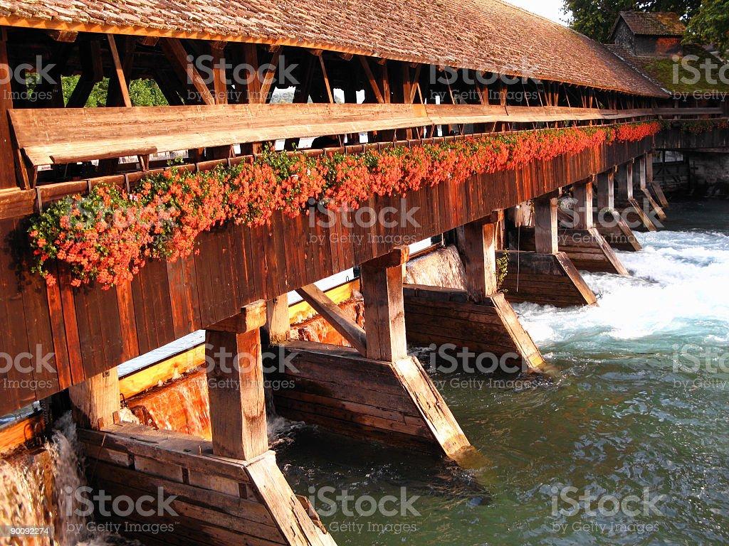 Swiss bridge stock photo