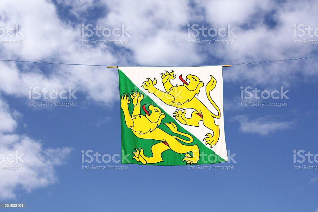 Swiss Canton Flag Series: Thurgau, stock photo