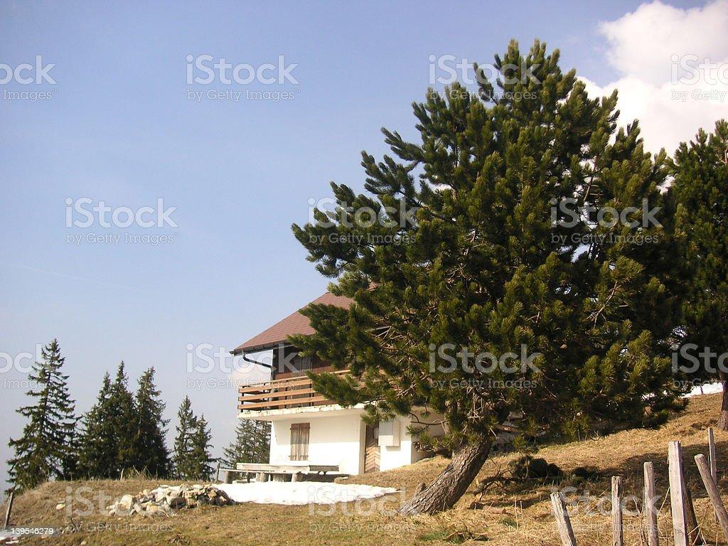 スイス風シャレー ロイヤリティフリーストックフォト