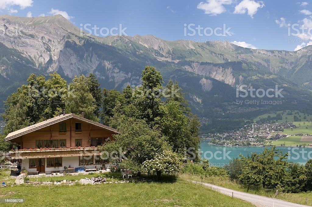 Swiss Chalet stock photo