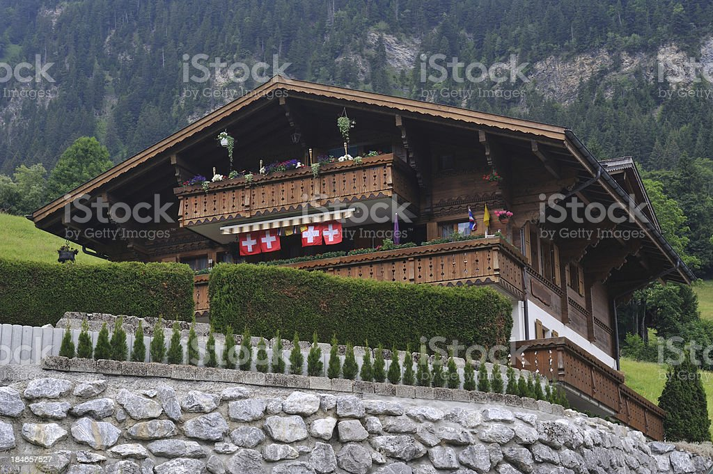 Swiss Chalet royalty-free stock photo