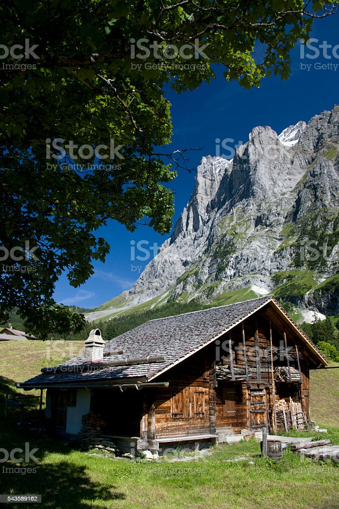 Swiss Chalet Switzerland stock photo