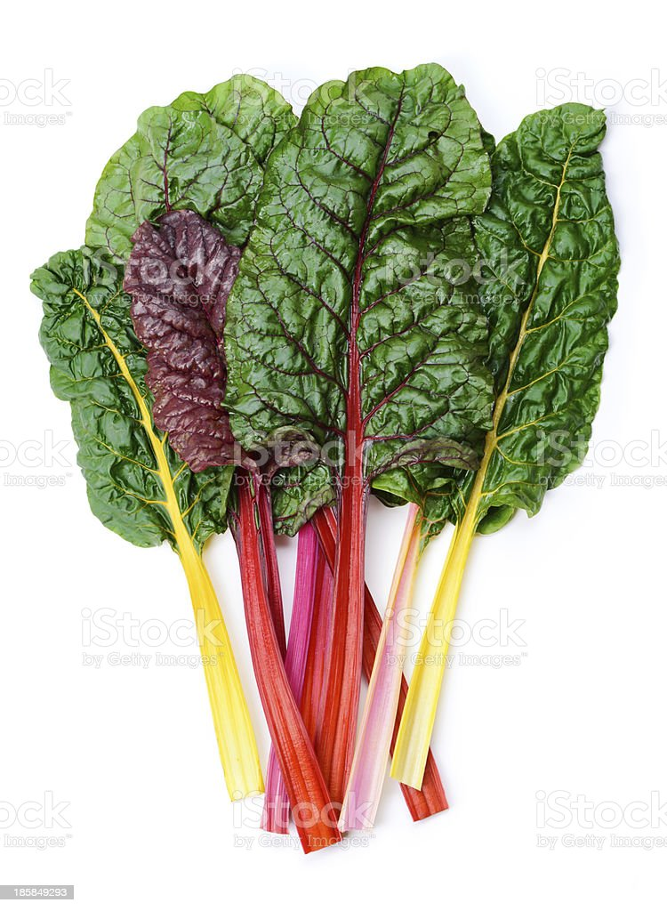 Swiss chard Rainbow stock photo