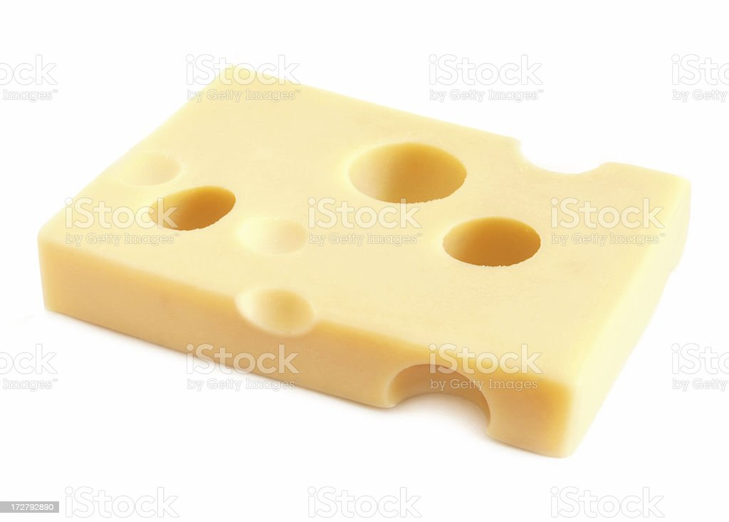 Swiss cheese stock photo