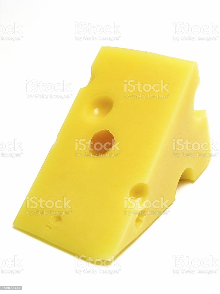 Swiss cheese royalty-free stock photo