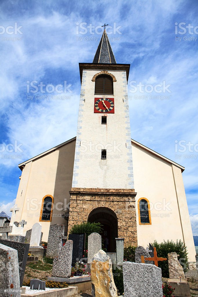 swiss church stock photo