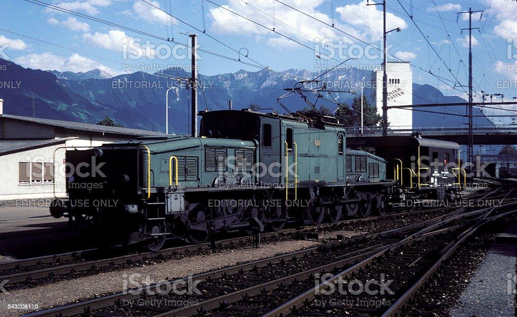 Swiss Class Ae 4/7 Electric Locomotive stock photo