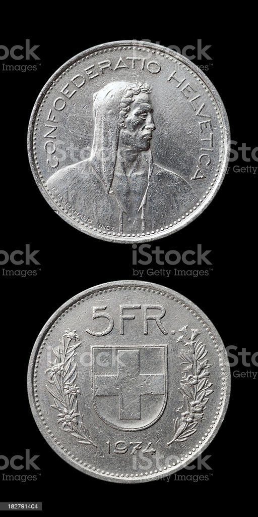Swiss Coin royalty-free stock photo
