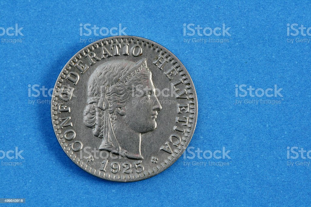 Swiss coin stock photo