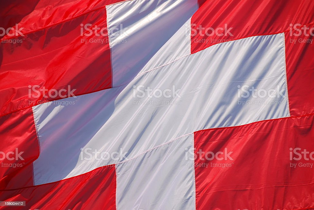 Swiss Confederation Flag stock photo