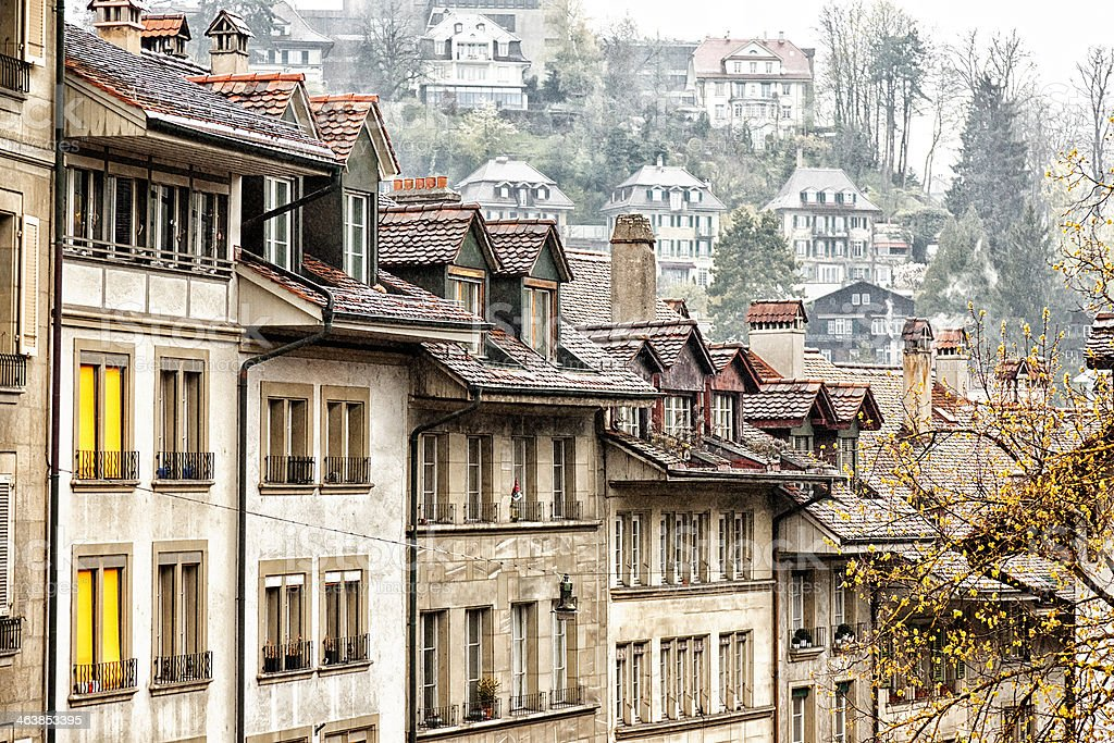 Swiss Cottages royalty-free stock photo
