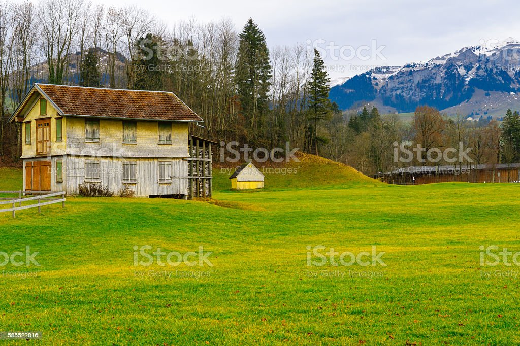 Swiss countryside, in Appenzell stock photo