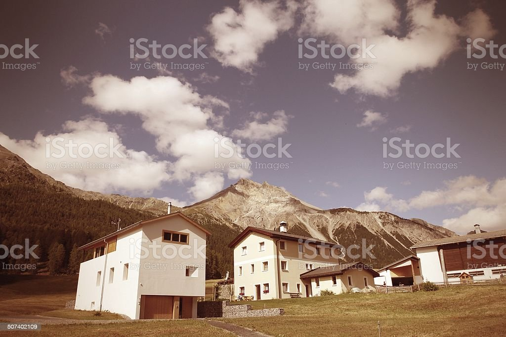 Swiss countryside stock photo
