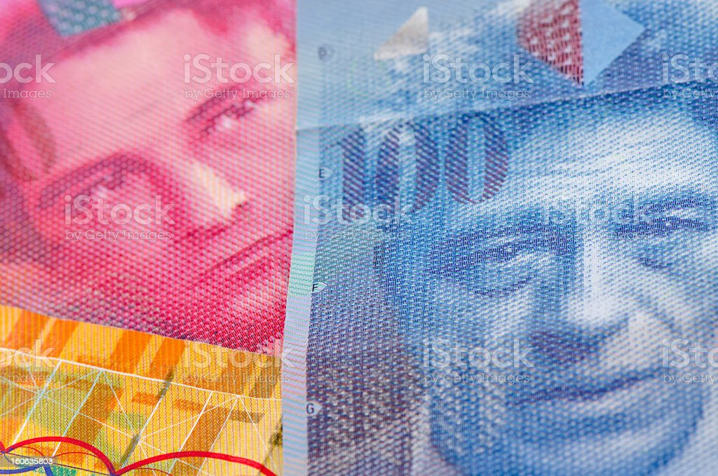 Swiss currency francs royalty-free stock photo