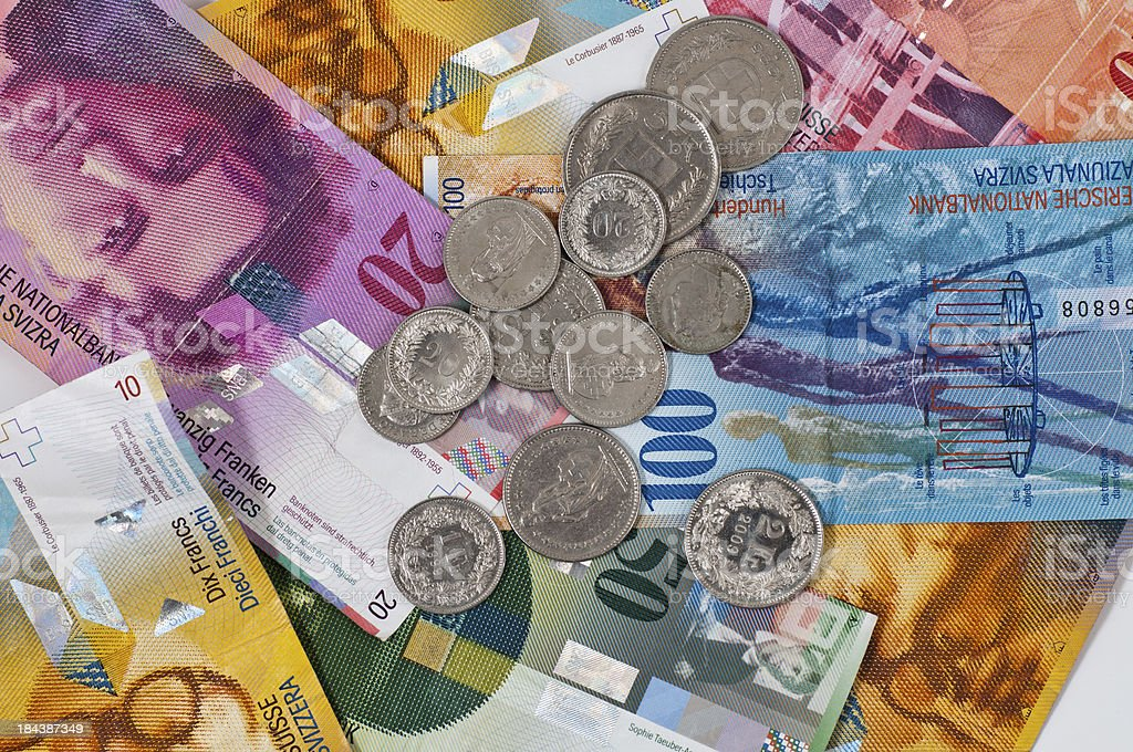 swiss currency royalty-free stock photo