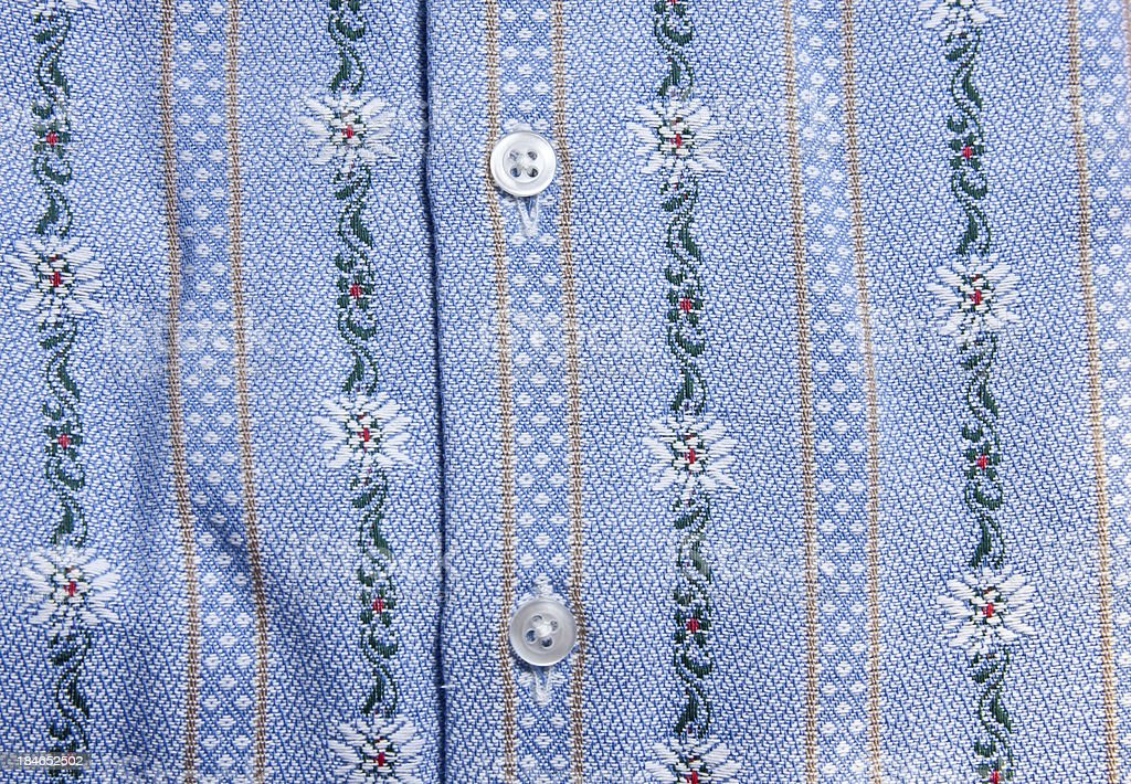 Swiss Edelweiss Shirt royalty-free stock photo