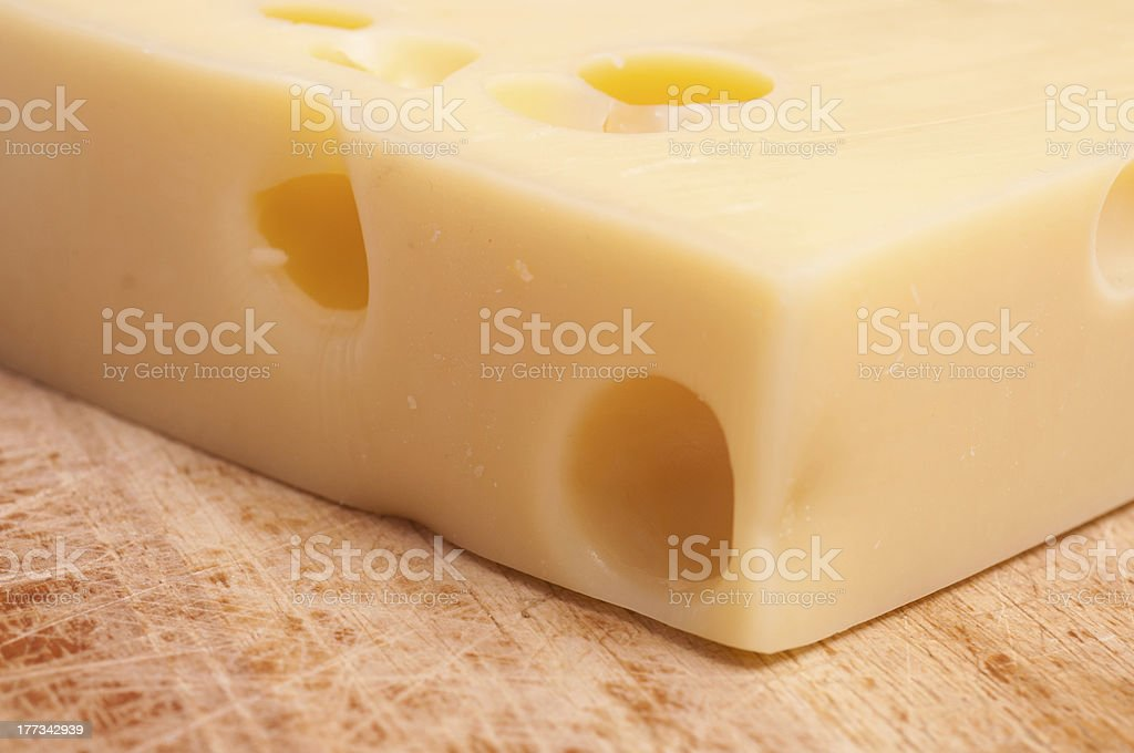 Swiss emmentaler cheese royalty-free stock photo