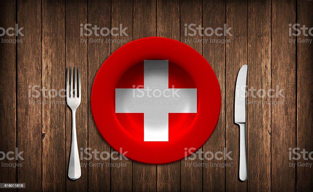 Swiss flag concept stock photo