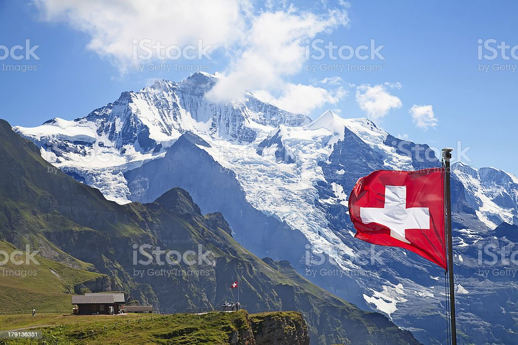 Swiss flag royalty-free stock photo