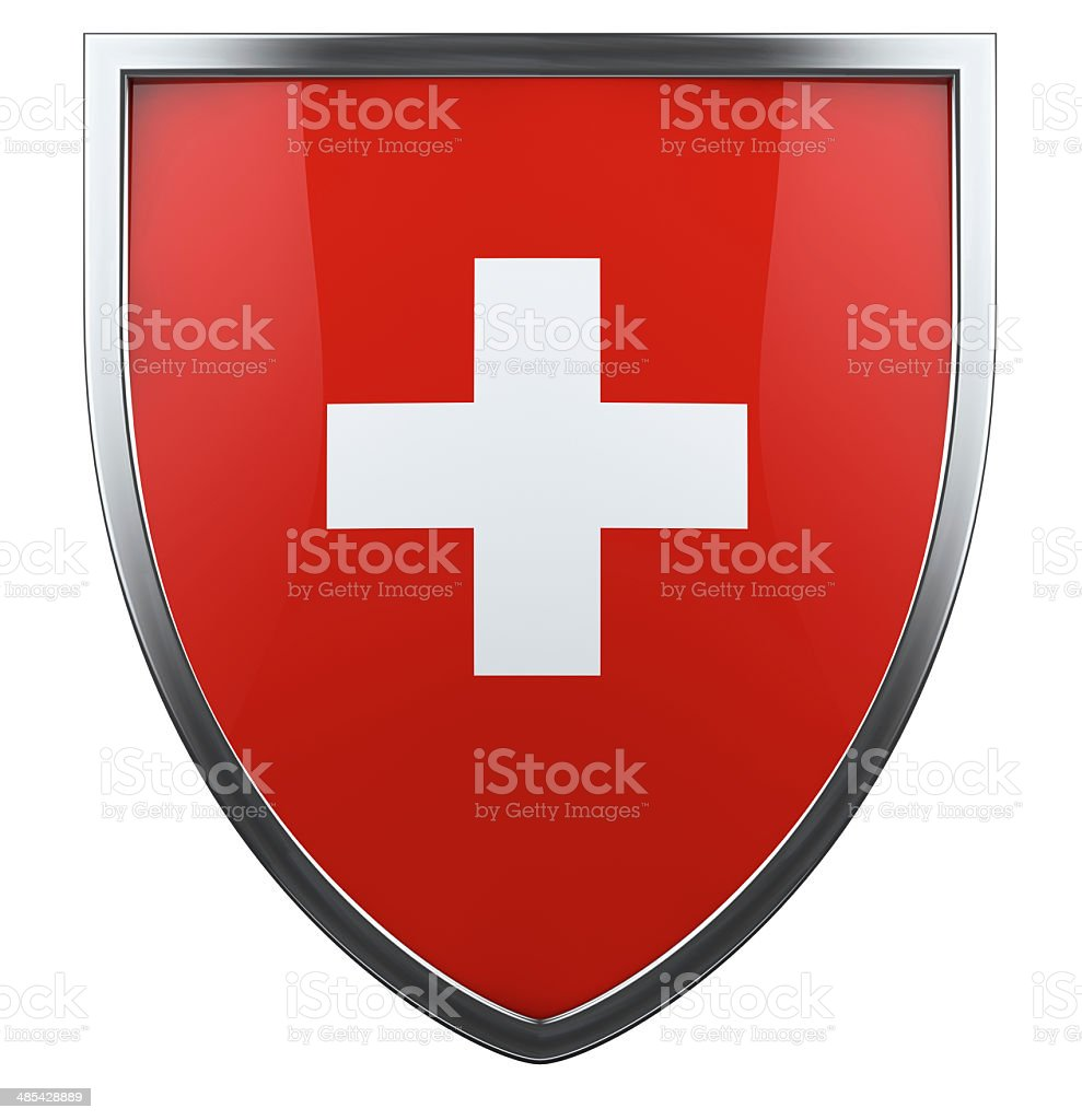 Swiss flag stock photo