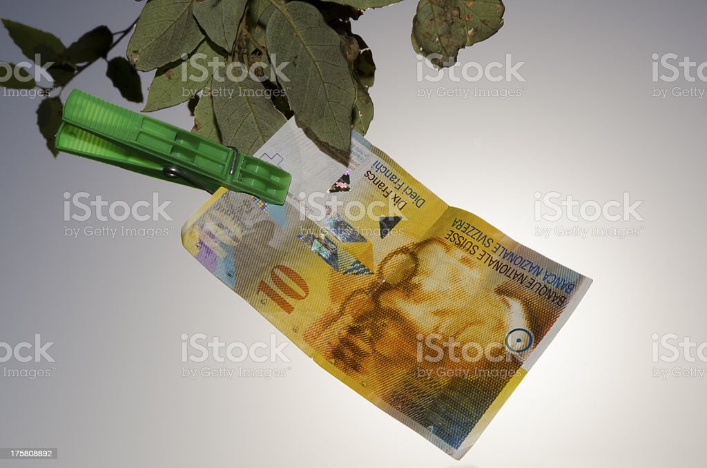Swiss franc royalty-free stock photo