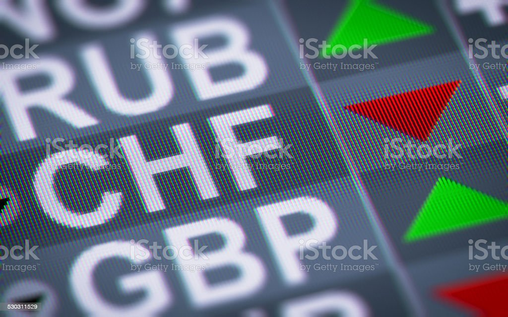 Swiss franc stock photo